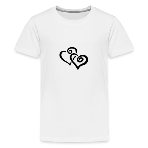 Black hearts - Teenager Premium T-Shirt