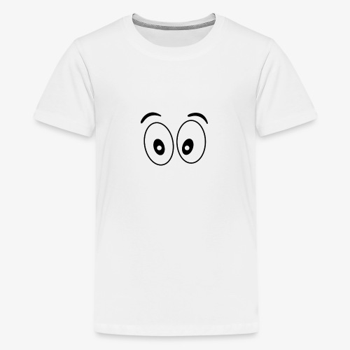 wide eye 1 - Teenage Premium T-Shirt