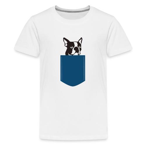 Boston Terrier Knochentiger - Teenager Premium T-Shirt