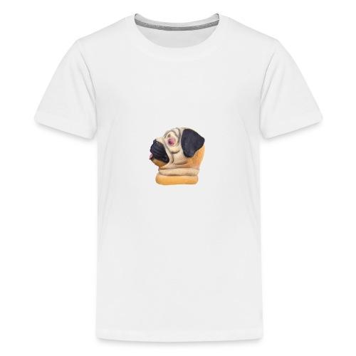 A larger DJ Pug - Teenage Premium T-Shirt