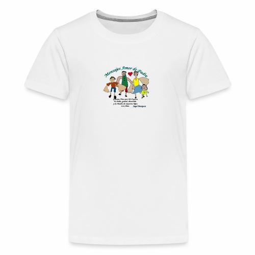Mensaje amor de padre 2 - Camiseta premium adolescente