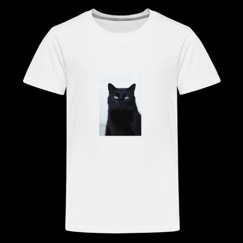 Schwarze Katze - Teenager Premium T-Shirt