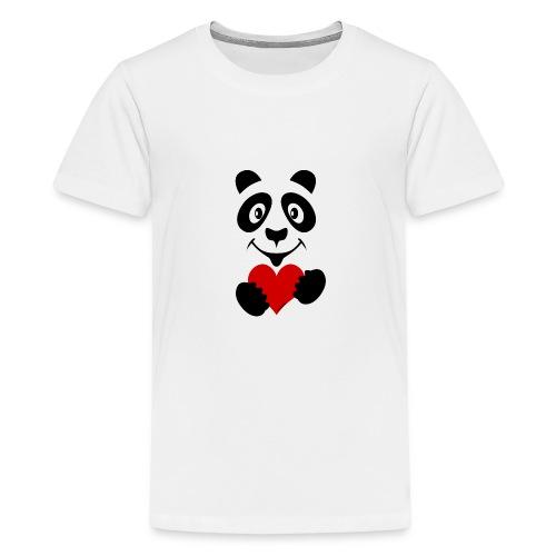 FP10-51A PANDA HEART Tekstiles and Gift products - Teinien premium t-paita