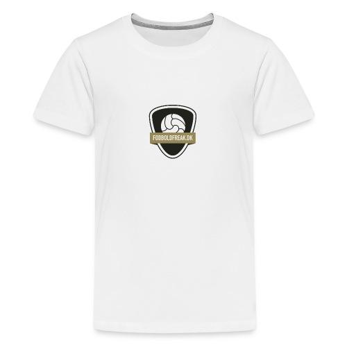 fodboldfreak logo - Teenager premium T-shirt