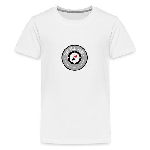 Öst till väst logotyp - Premium-T-shirt tonåring