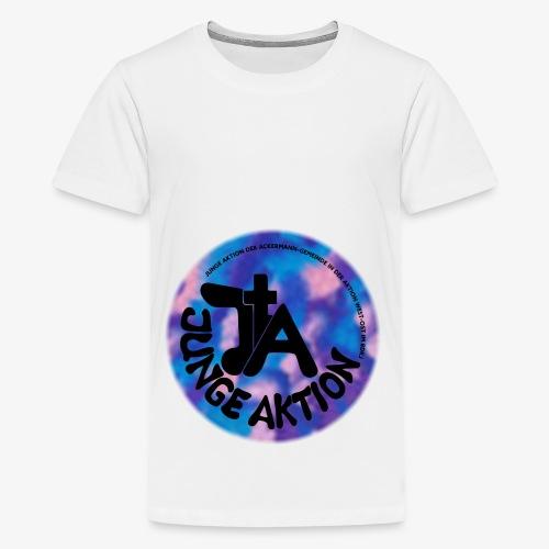 LLENA blau schwarz - Teenager Premium T-Shirt