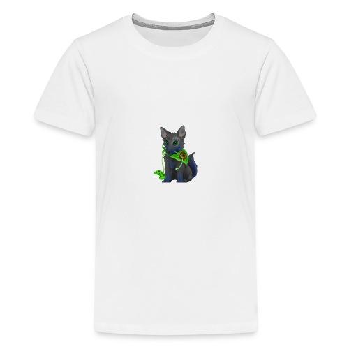 Wolfie Plays Gaming - Teenage Premium T-Shirt