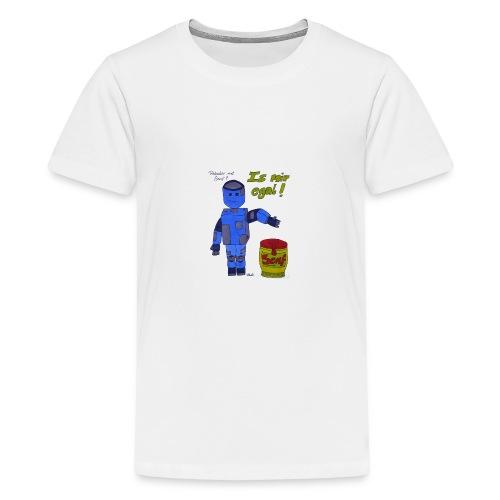Roboter mit Senf - is mir egal! - Teenager Premium T-Shirt