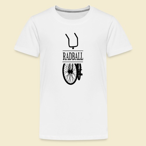 Radball | Retro Black - Teenager Premium T-Shirt