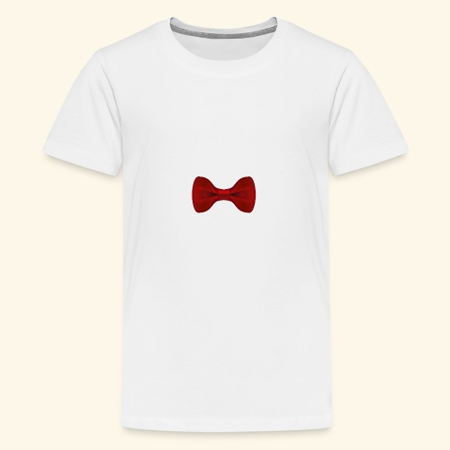 Nœud Papillon Rouge uni - T-shirt Premium Ado