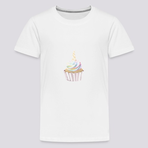 Unicorn Cupcake - Teenage Premium T-Shirt