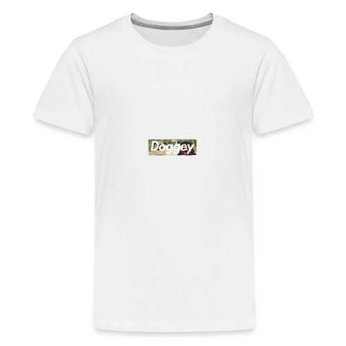 Doggey Pug Box Logo - Teenage Premium T-Shirt