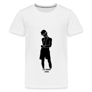 Leo Gaming Vlogs Silhouette - Teenage Premium T-Shirt