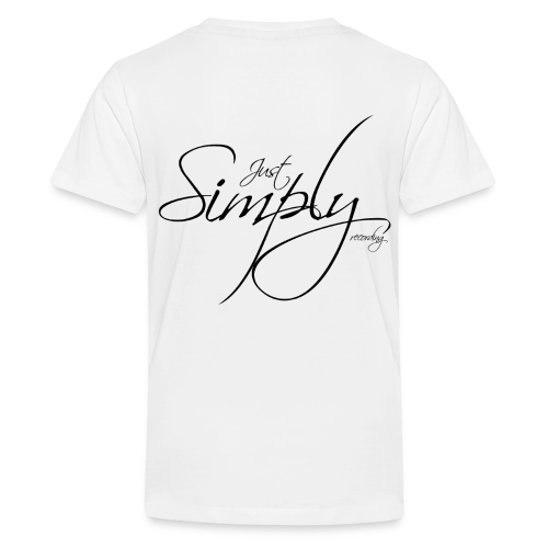Just Simply Logo black // back - Teenager Premium T-Shirt