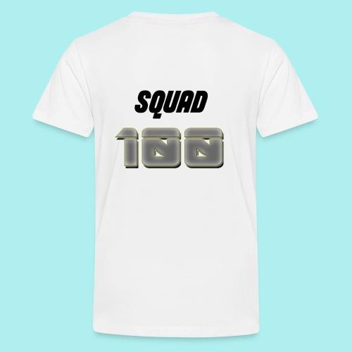 METTALIC 100 SUBSCRIBERS - Teenage Premium T-Shirt