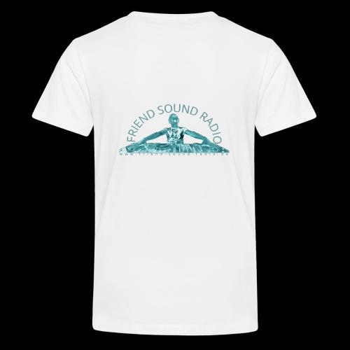 Friend Sound Radio DJ Rücken - Teenager Premium T-Shirt