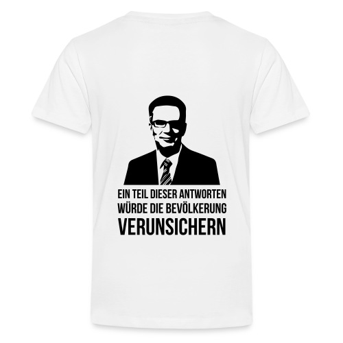 Verunsicherung - Teenager Premium T-Shirt