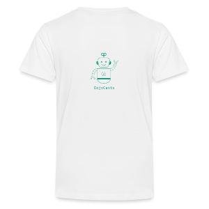 Blanc avec logo dojo vert jette - T-shirt Premium Ado