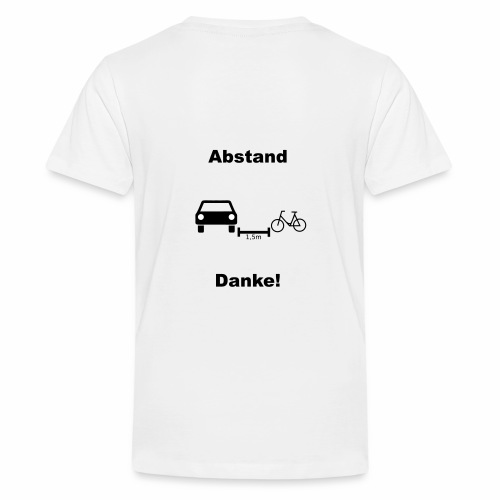 Danke für Abstand - Teenager Premium T-Shirt