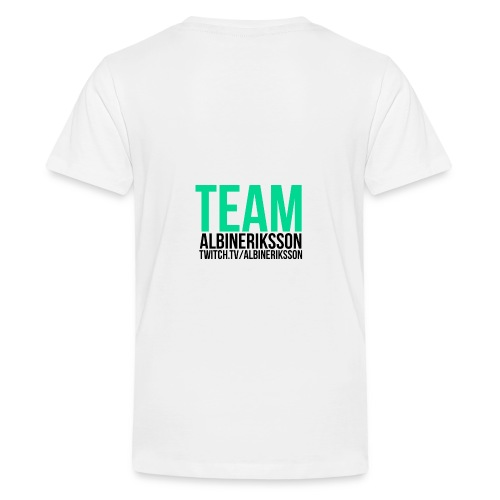 Team albinerikss0n Svart - Premium-T-shirt tonåring