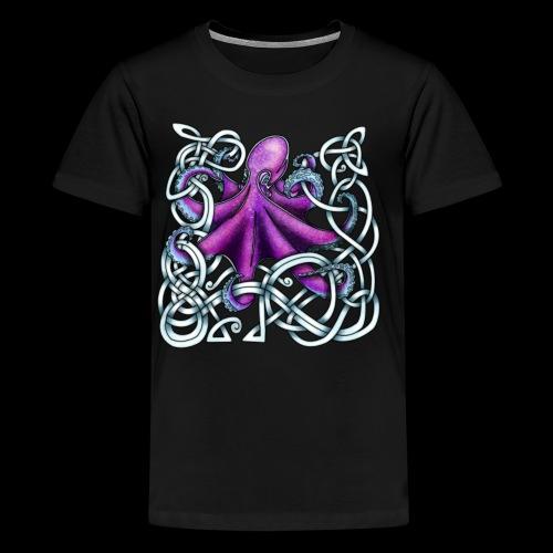Celtic Octopus - Purple - Teenage Premium T-Shirt