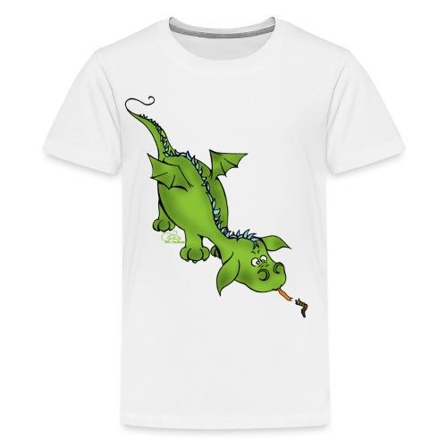 Neugierdrache - Teenager Premium T-Shirt