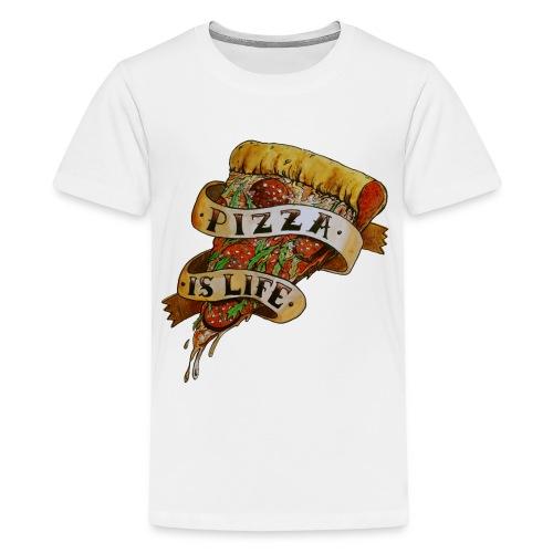 Pizza is Life - Maglietta Premium per ragazzi