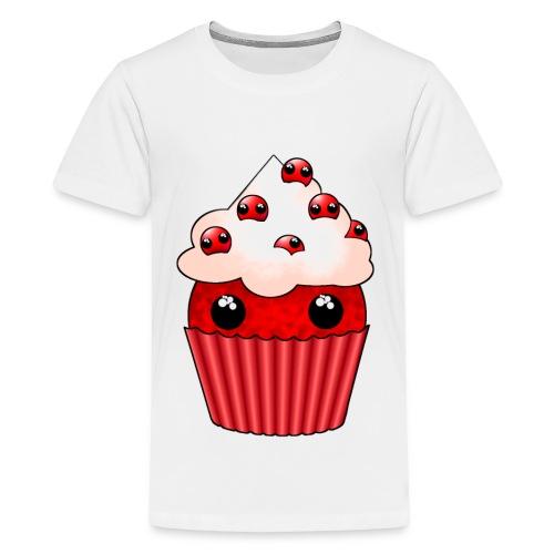 kawaii cupcake cranberry - Teenage Premium T-Shirt