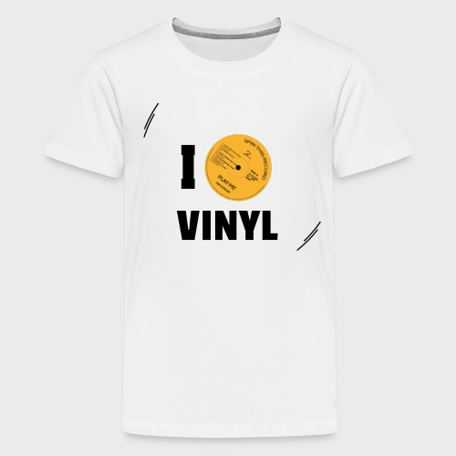 T-Record - I love vinyl! - Teenager Premium T-shirt