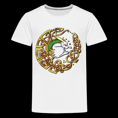 Celtic Hare - Teenage Premium T-Shirt