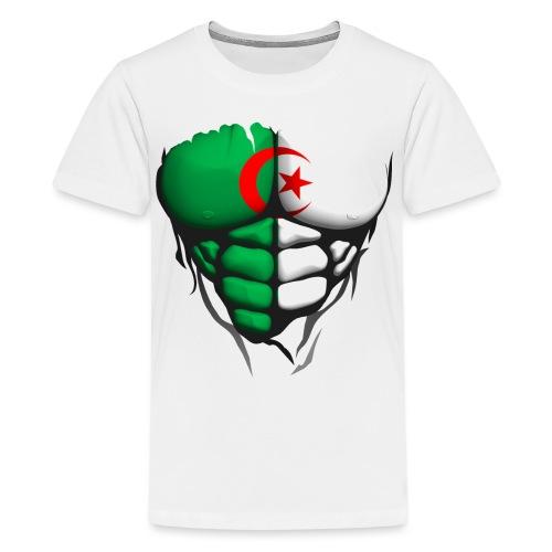 algerie drapeau torse corps muscle abdos - T-shirt Premium Ado