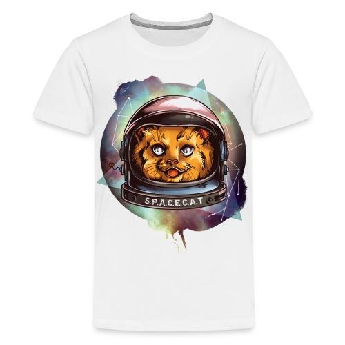 Space Cat - Teenager Premium T-Shirt