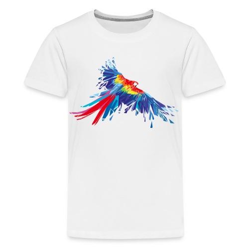 Papagei Federn Aras Vogel Vögel Flügel parrot bird - Teenager Premium T-Shirt