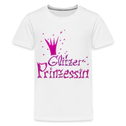 Rosa Glitzer Prinzessin - Teenager Premium T-Shirt