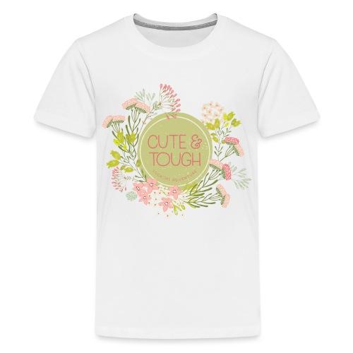 Cute and tough - green - Teenage Premium T-Shirt