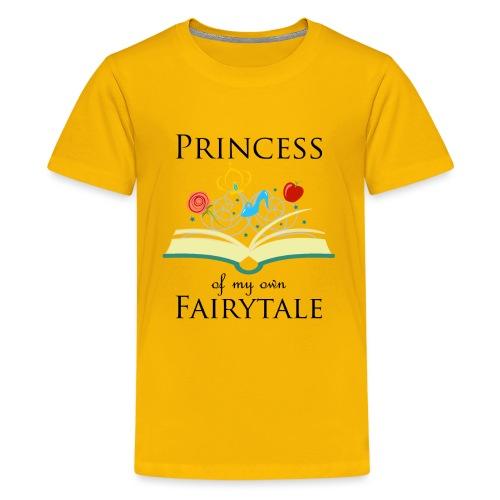 Princess of my own fairytale - Black - Teenage Premium T-Shirt