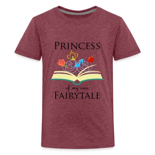 Princess of my own fairytale - Black - Teenage Premium T-Shirt