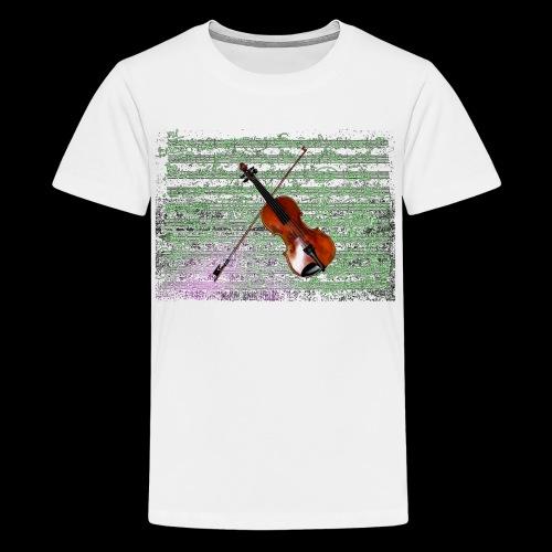 Violin - Teenage Premium T-Shirt