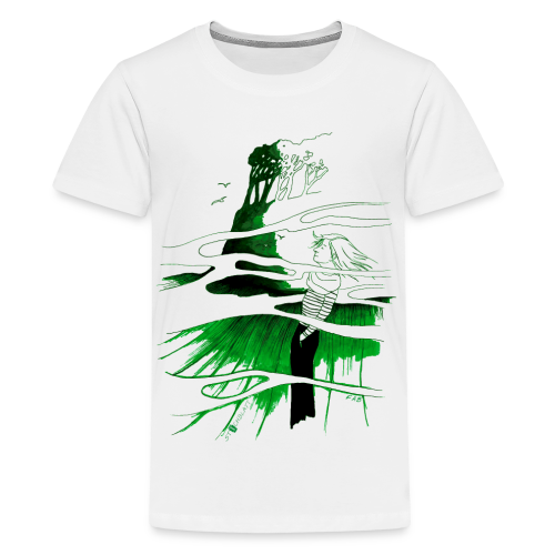 Ein Ort (grün) - Teenager Premium T-Shirt