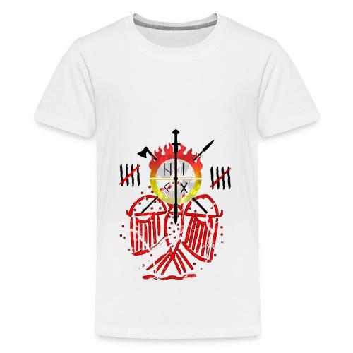 Adler rot Risse - Teenager Premium T-Shirt