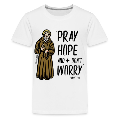 Padre Pío - Camiseta premium adolescente