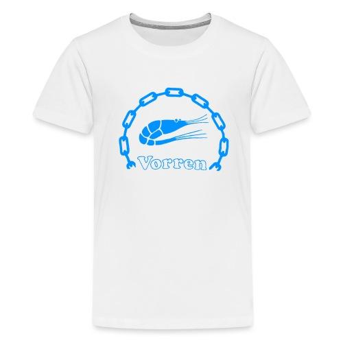 Vorren Logo CLASSIC [Blue] - Premium-T-shirt tonåring