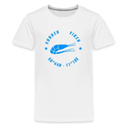 Vorren Logo MODERN [Blue] - Premium-T-shirt tonåring