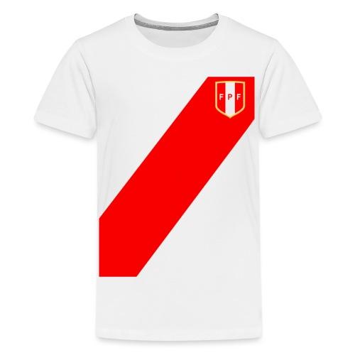 Seleccion peruana de futbol (Recto-verso) - Teenage Premium T-Shirt