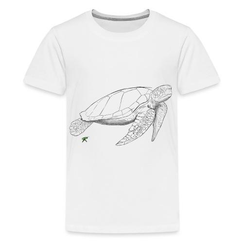 Sea turtle sketch - Maglietta Premium per ragazzi