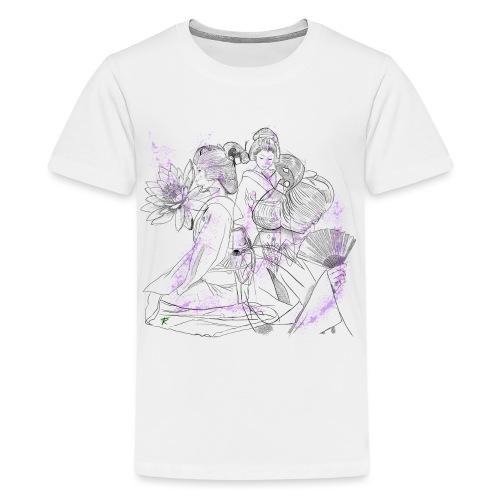 Geisha color - Maglietta Premium per ragazzi