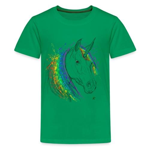 Unicorno - Maglietta Premium per ragazzi