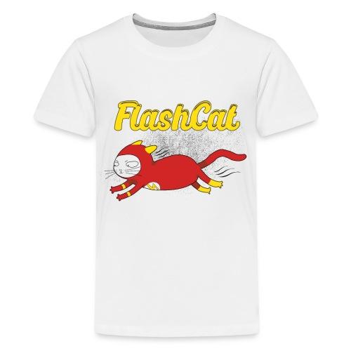FlashCat Vintage Comic Katze Superheld - Teenager Premium T-Shirt