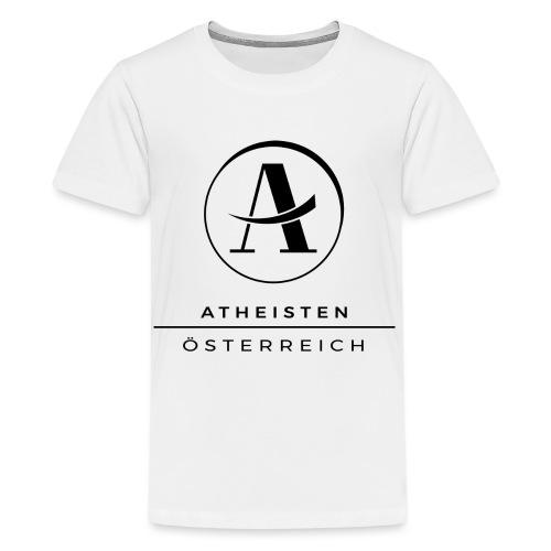 Atheisten Logo Schwarz - Teenager Premium T-Shirt