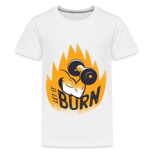 Muscles Biceps Gym Burn Fitness Calisthenics - Teenage Premium T-Shirt
